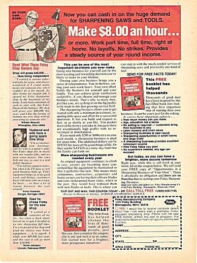 Foley manufacturing co., ad 1979 (Image1)