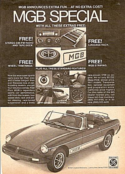MGB  auto ad 1977 (Image1)