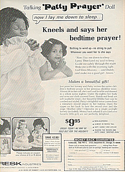 Niresk industries - PATTY PRAYER DOLL  - 1977 AD (Image1)