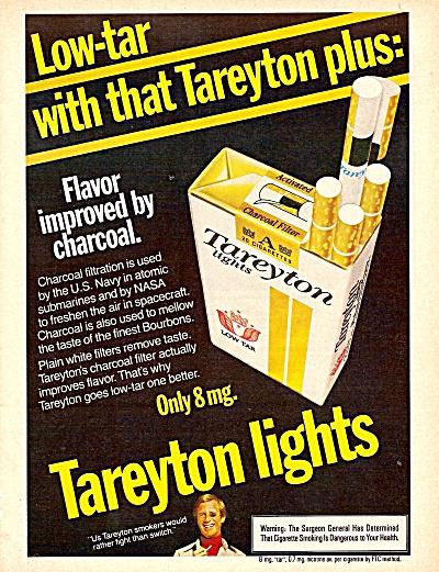 Tareyton lights  ad 1977 (Image1)