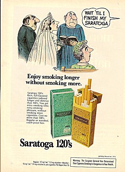 Saratoga 120's cigarettes ad 1976 (Image1)