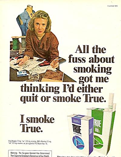 True cigarettes ad 1976 (Image1)