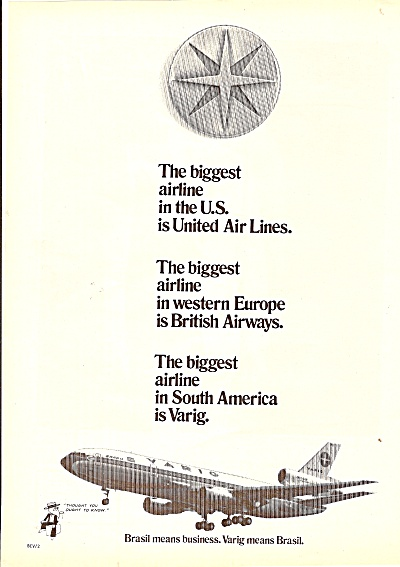 United air lines - British Airways - Varig airlines ad (Image1)