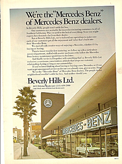 Mercedes-Benz auto dealer ad 1976 (Image1)