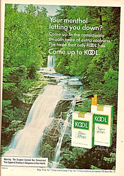 Kool cigarettes ad 1976 (Image1)