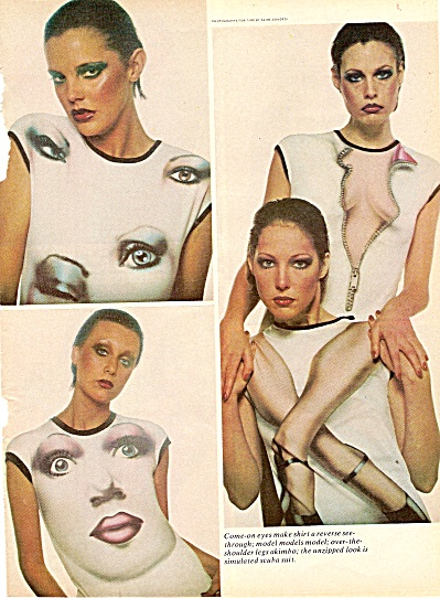 Models displaying clothes of era ad 1976 (Image1)