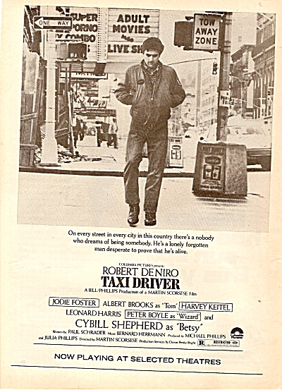 PROMO MOVIE AD - TAXI DRIVER --ROBERT DENIRO ad 1976 (Image1)