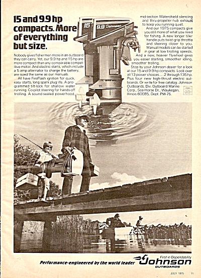 Johnson Outboards Ad 1975