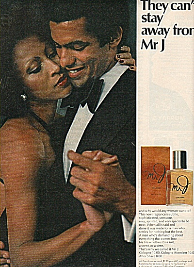 Mr. J Cologne Ad 1977