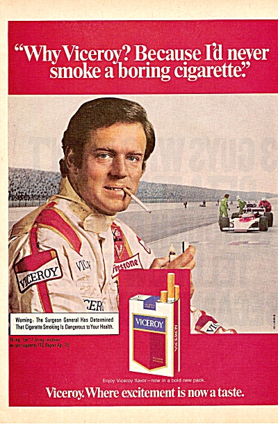 Viceroy cigarettes ad 1975 (Image1)