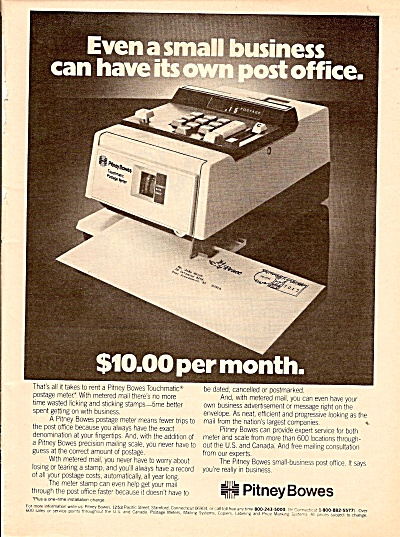 Pitney Bowes Ad 1979