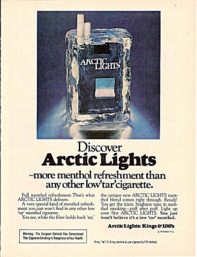 Arctic Lights cigarettes ad 1979 (Image1)