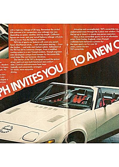Triumph TR7 auto ad  1979 (Image1)