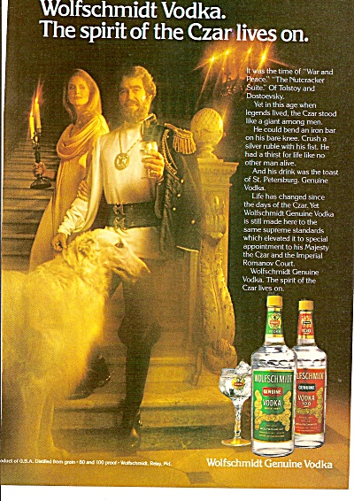 Wolfschmidt genuine vodka ad 1979 CZAR LIVES ON (Image1)