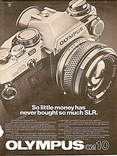 Olympus OM10 camera ad 1979 (Image1)