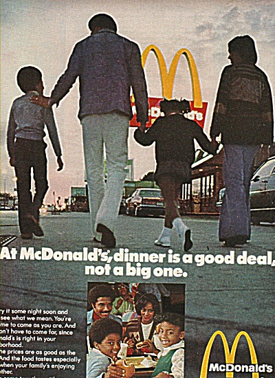Mcdonald's Golden Arches Ad 1977 Family Dinner