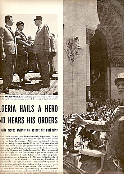 CHARLES DE GAULLE IN  Algeria story 1958 (Image1)