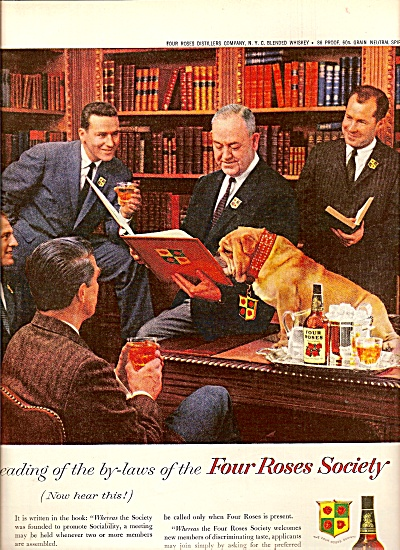 Four Roses society ads 1958 (Image1)