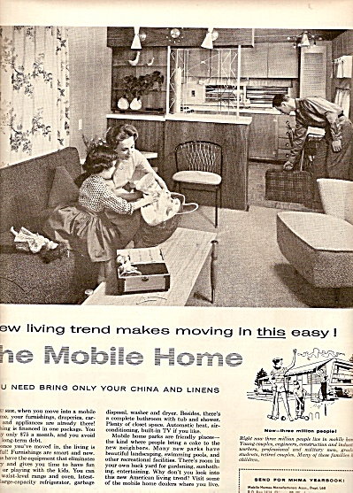 Mobile Home Manufacturers assn. ad 1958 (Image1)
