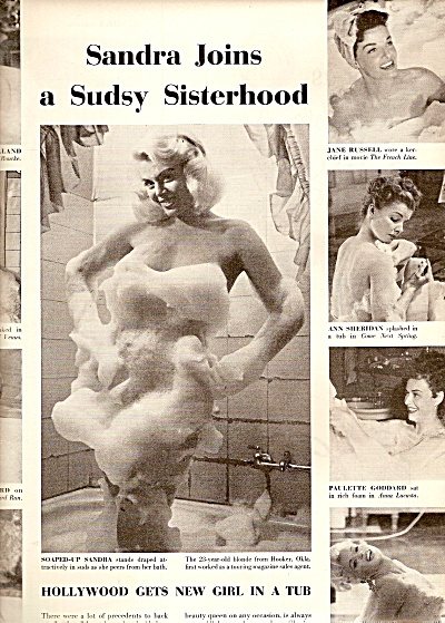 Hollywood gets new girl in a tub.  1958 (Image1)