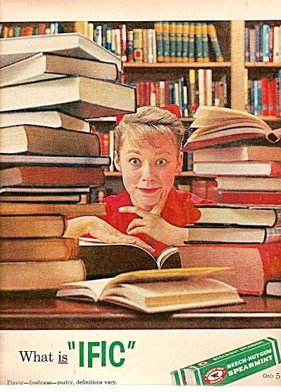 Beech Nut Gum ad 1958 (Image1)