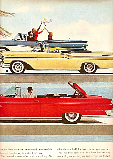 Ford automobiles ad 1958 (Image1)