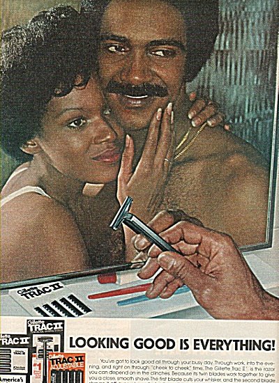 Trac Ii Shaving By Gillette Ad 1977