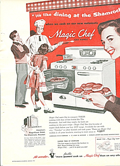 Magic chef gas range ad 1951 (Image1)