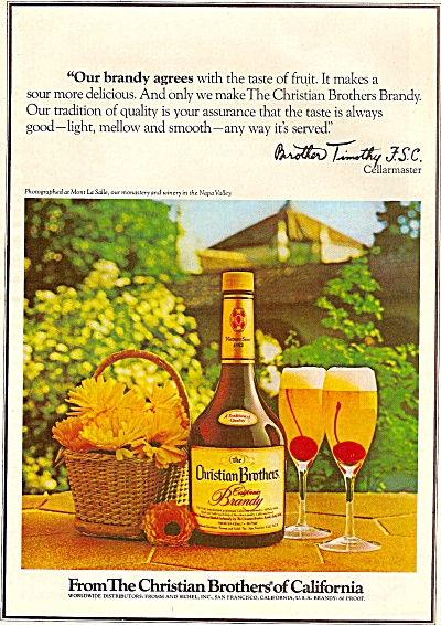 Christian Brothers of California Brandy ad 1979 (Image1)