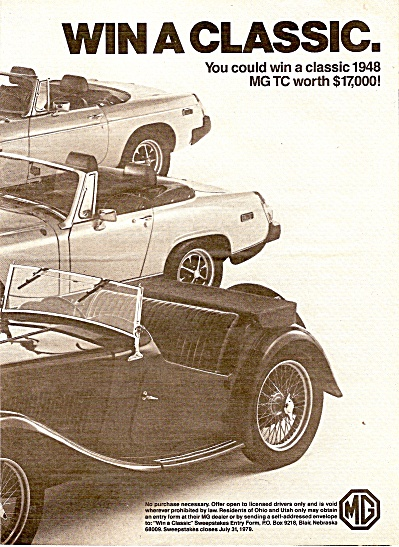 MGB and MG Midget ad 1979 (Image1)