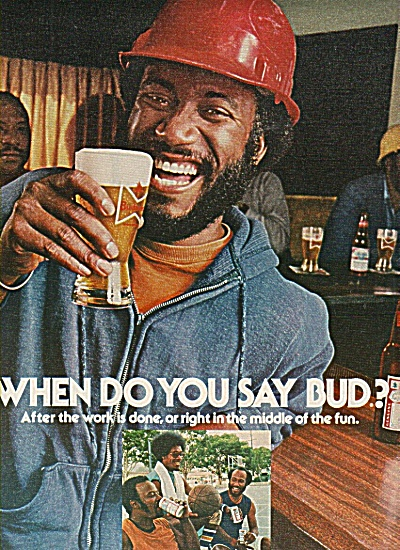 Budweiser Beer Ad 1977