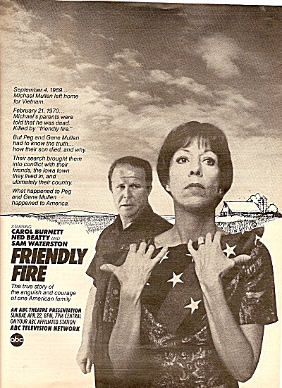 TV presentation:  FRIENDLY FIRE -  CAROL BURNETT 1979 (Image1)