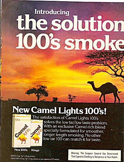 Camel lights ad 1979 (Image1)