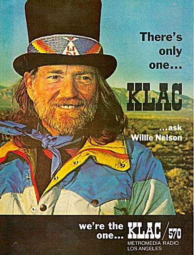 KLAC  Radio Station - WILLIE NELSON  ad 1979 (Image1)