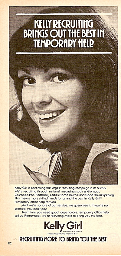 Kelly girl services ad 1977 (Image1)