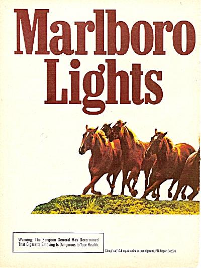 Marlboro light cigarettes ad 1977 (Image1)