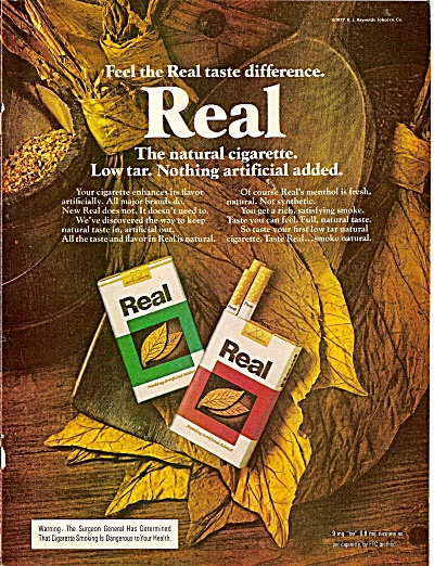 Real cigarettes ad 1977 (Image1)
