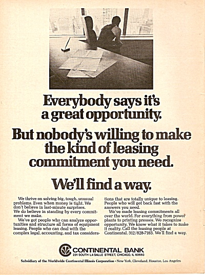 Continental bank ad 1977 (Image1)