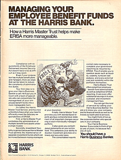 Harris Bank ad. 1977 (Image1)
