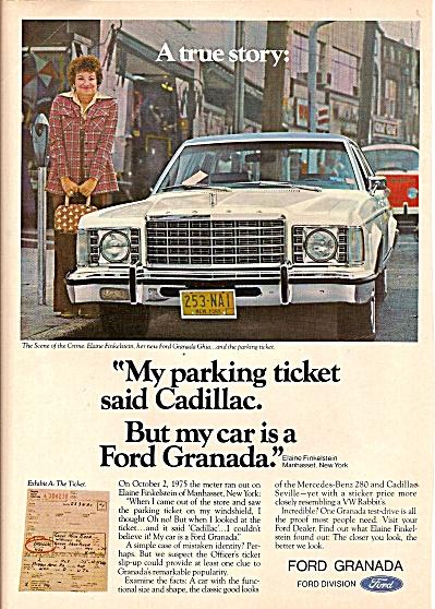 Ford Granada auto ad 1976 (Image1)