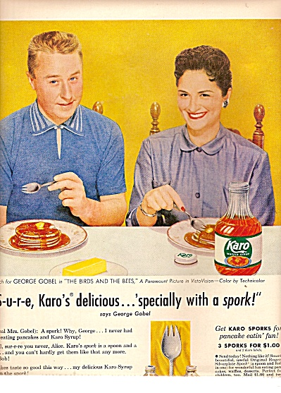 Karo Syrup Ad - George Gobel And Wife 1956