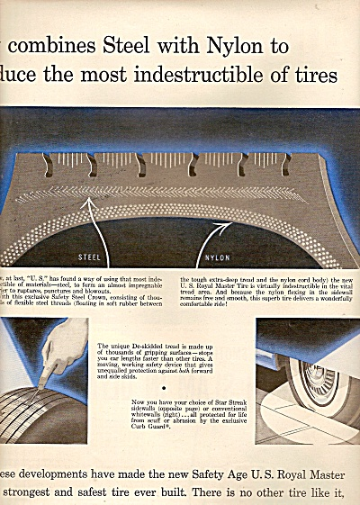 United States Rubber Ad - U.s.royal 1956