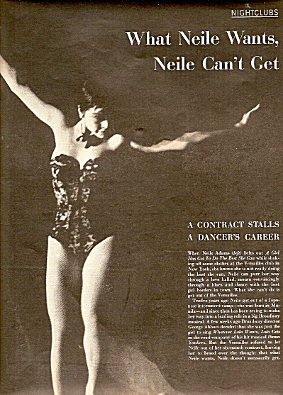 NEILE ADAMS  dancing in New York story 1956 (Image1)