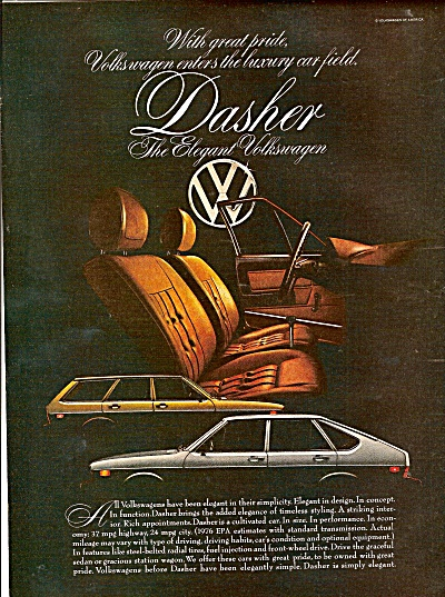 Volkswagen Dasher ad 1976 (Image1)