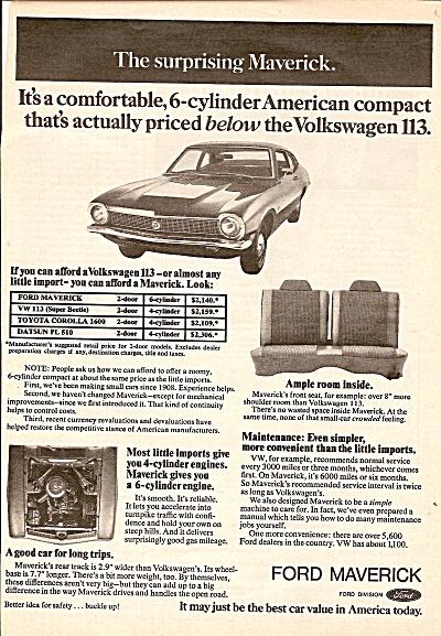 Ford Maverick ad - 1972 (Image1)