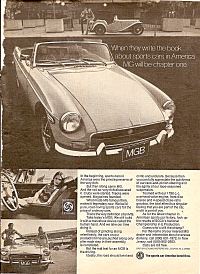 MGB  sports car ad 1972 (Image1)