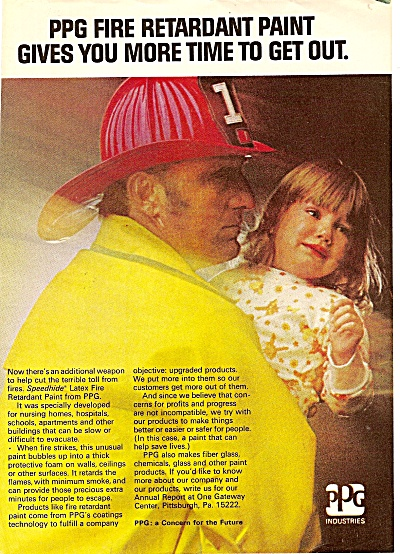 PPG fire retardant paint ad 1972 (Image1)