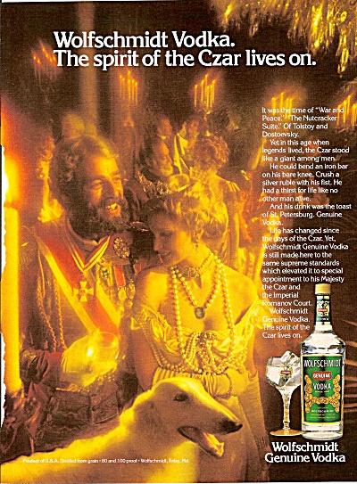Wolfschmidt genuine vodka ad 1979 CZAR (Image1)