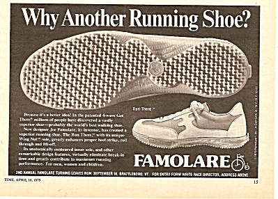 Famolare runniong shoes ad 1979 (Image1)