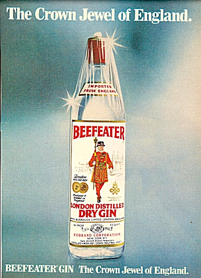 Beefeater -london distilled dry gin ad 1979 (Image1)